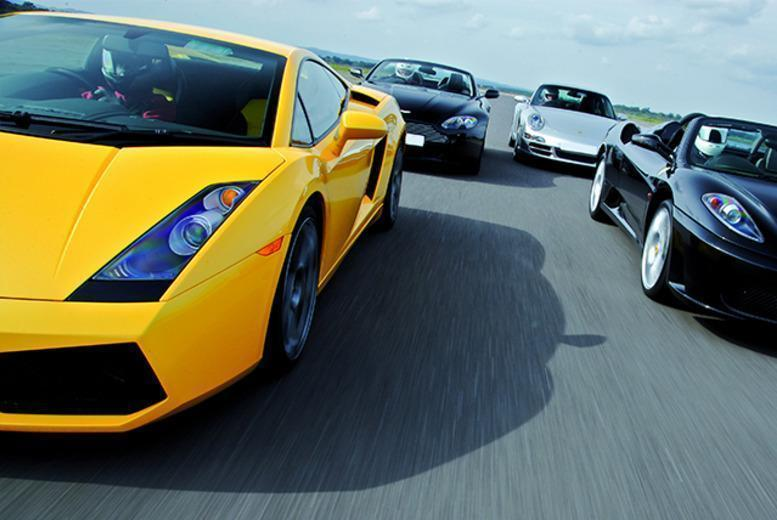 £69 for a triple supercar driving blast experience from Buyagift - get behind the wheel of a Porsche, Ferrari or Lamborghini!