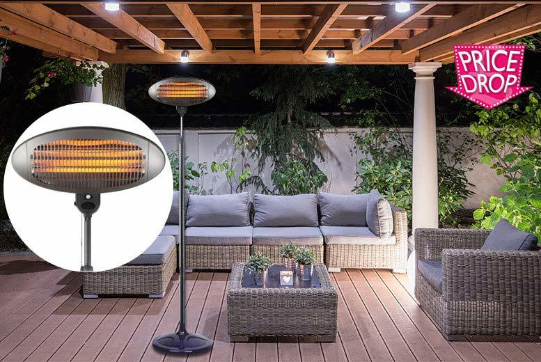 £28 instead of £100.01 (from Who Needs Shops) for a 2000W free-standing outdoor electric patio heater - stay warm throughout the evening and save 72%