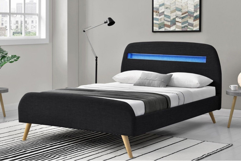 Magnata LED Bed w/ Optional Mattress – 2 Colours! (£179)