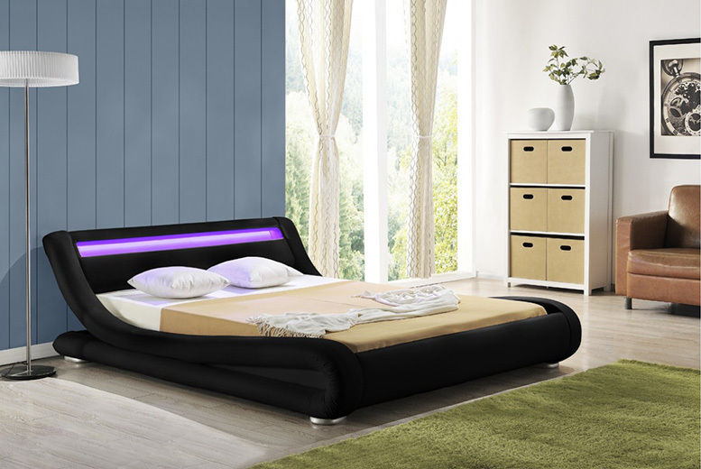 Dawn Crushed Velvet Bed with Optional Mattress – 2 Sizes & Colours! from £189