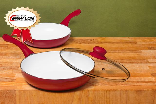Non Stick Ceramic Frying Pan Set Essex Wowcher
