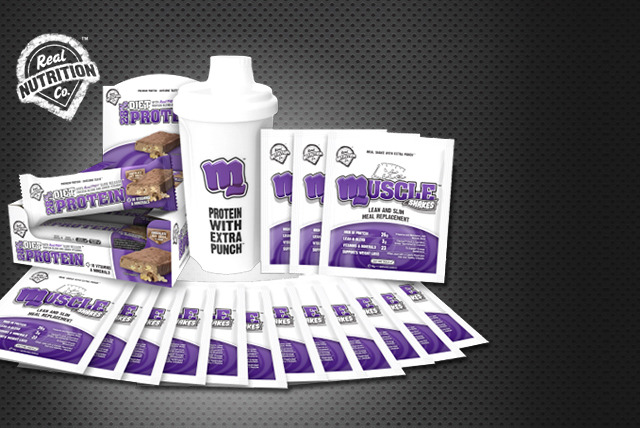 £39 instead of £84.99 (from The Real Nutrition Company) for a 4-week meal replacement and protein bar pack inc. shaker bottle - save 54%
