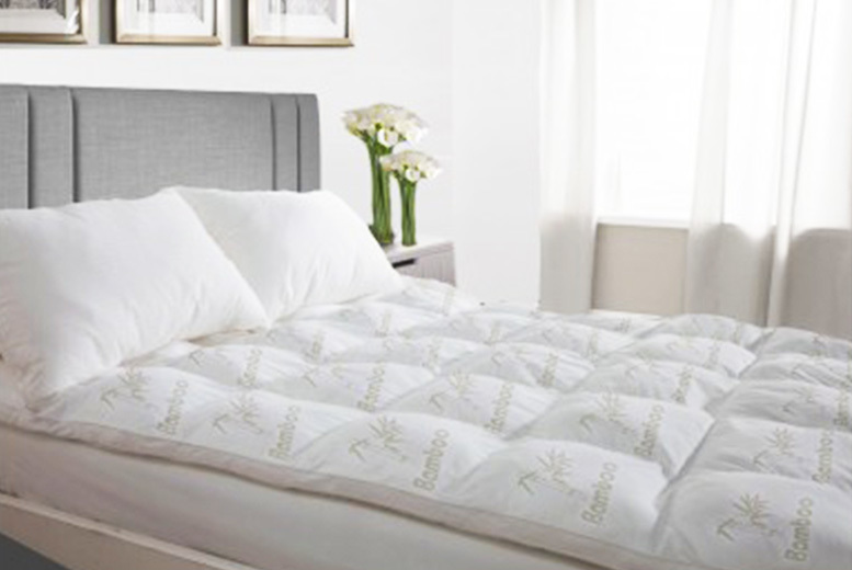 Bamboo Spiral Bounce Mattress Topper from £21.99