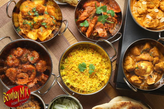 £9.99 for a 2 course meal for 2, including a starter, main and side plus coffee or ice cream each, or £19.98 for 4 at Bombay Mix – save up to 74%