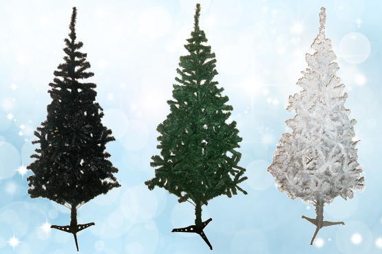 £17.99 instead of £49 for a luxury 5ft Artificial Christmas Tree in a range of colours from Aquwa – get into the festive spirit and save 63%
