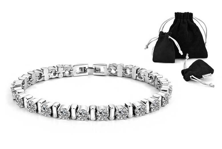 Philip Jones Crystal Bar Bracelet for £8.99