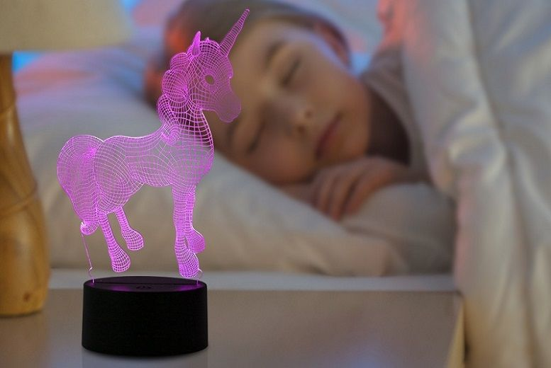 3D Colour-Changing Night Light – Dinosaur, Unicorn or Globe! for £10.99