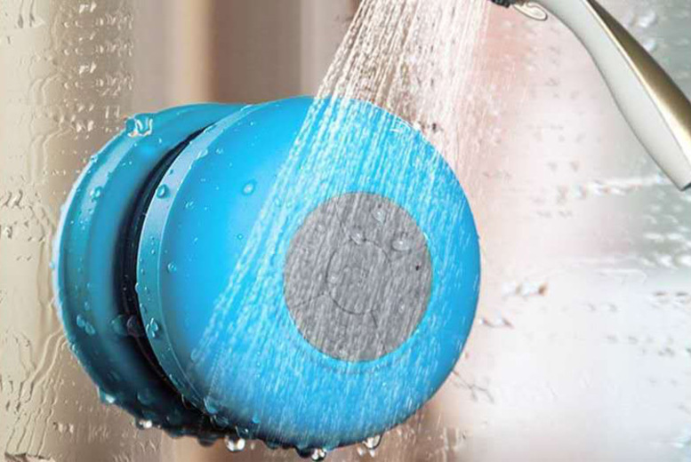 Water-Resistant Bluetooth Shower Speaker – 6 Colours! for £7.99