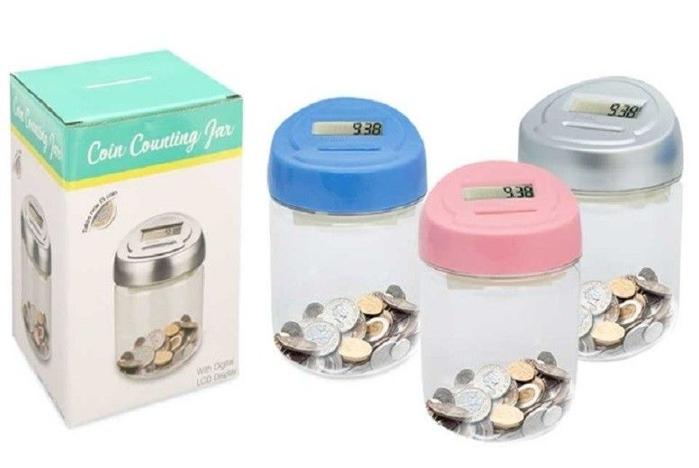 Digital Coin Counting Jar – 3 Colours! for £4.99