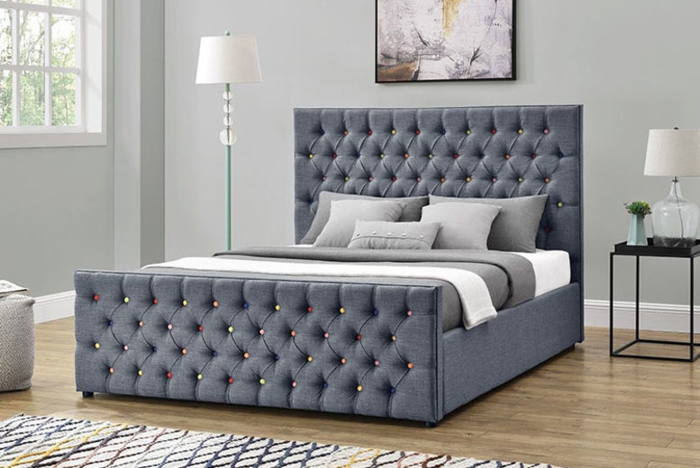Rainbow Studded Ottoman Bed – 3 Sizes with Mattress Option!