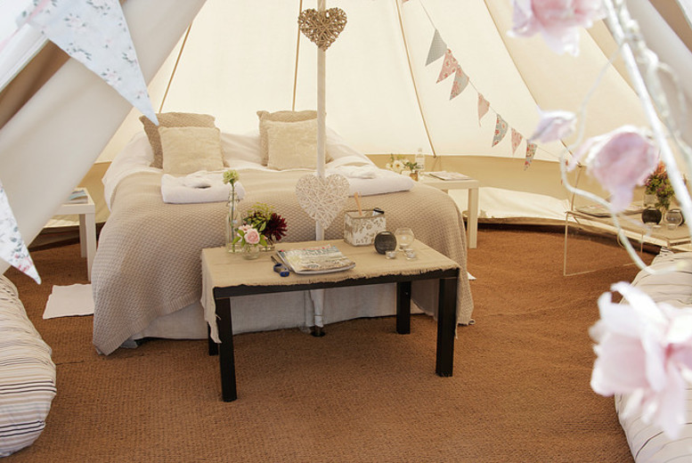 £79 instead of £195 for two nights of luxury glamping for two people at Bells & Stars, Suffolk – cosy up and save 59%