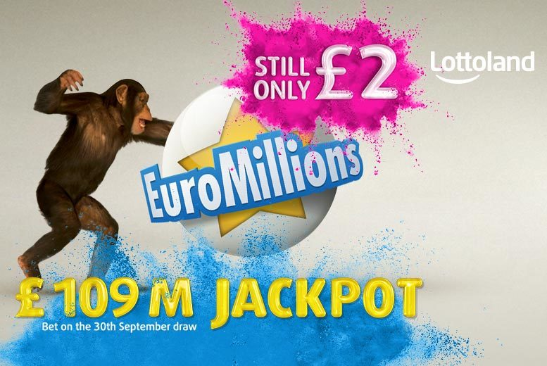 £9 instead of £20 (with Lottoland) for 10 EuroMillions line bets in Friday draws - try your luck on the gigantic £100 million jackpot and save 55%