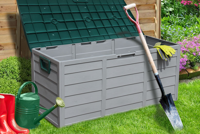 £22.99 instead of £92 for a 250L waterproof rolling garden storage chest from Ckent Ltd - save 77%