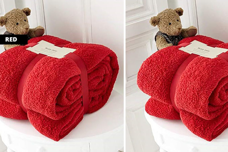 Teddy Style Super Soft Thermal Throw  9 Colours!