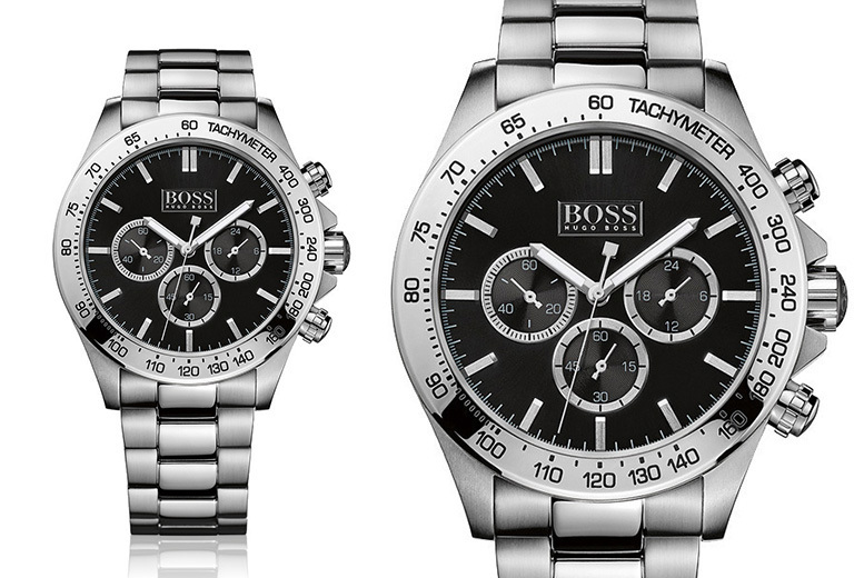 Hugo Boss HB1512965 Stainless Steel Black Dial Watch