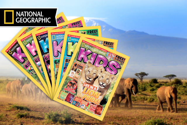 £8 (from National Geographic) for a 6-month subscription to National Geographic Kids - learn the fun way!