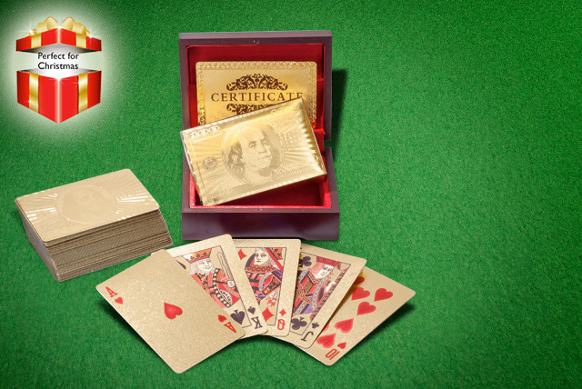£11 instead of £69.99 (from Merchtopia) for a pack of 24k gold-plated playing cards - come up trumps and save 84%