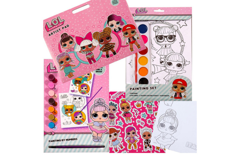LOL Surprise Art & Craft Set Stickers, Paint, Pictures!