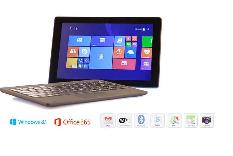 """£149 instead of £399.99 (from BitCool) for a two-in-one 10.1"""" quad core Windows 8.1 laptop and tablet - get online and save 63%"""