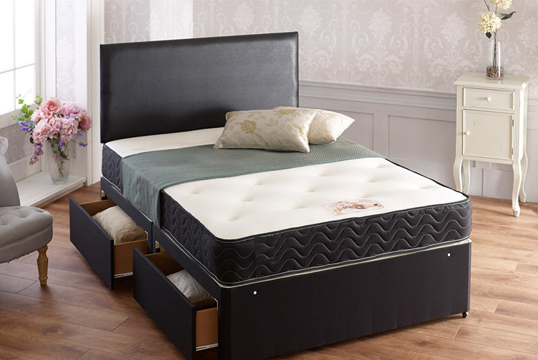Wowcher deal somnior beds from 129 from cheap for Cheap divans with mattress