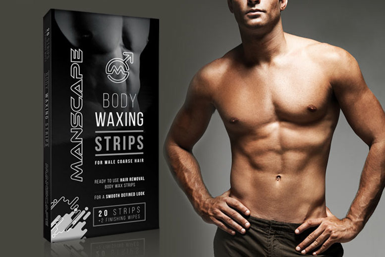 20 or 40 Manscape Waxing Strips