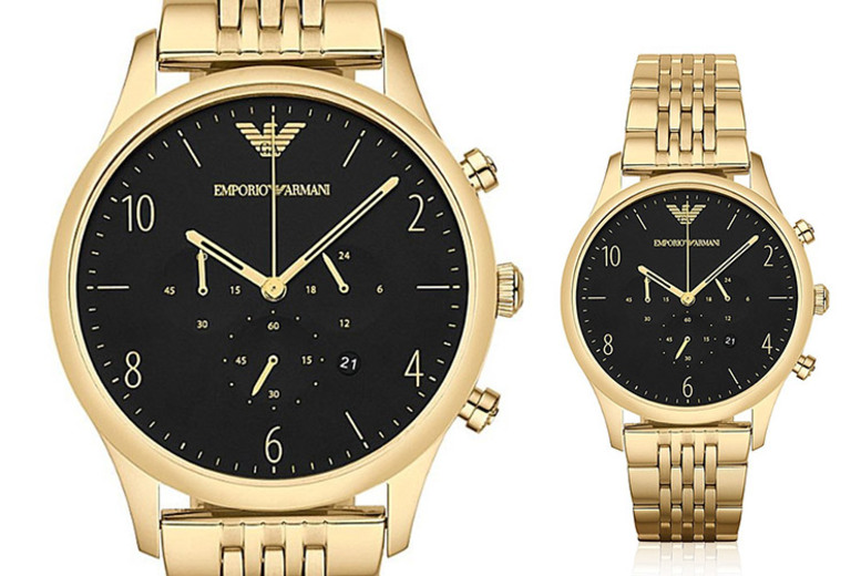 Emporio Armani AR1893 Gold Plated Men's Watch