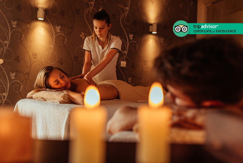Glasgow: Couple's Spa Day, Treatment, Dining & Bubbly for 2 @ 4* Westerwood Hotel from £99