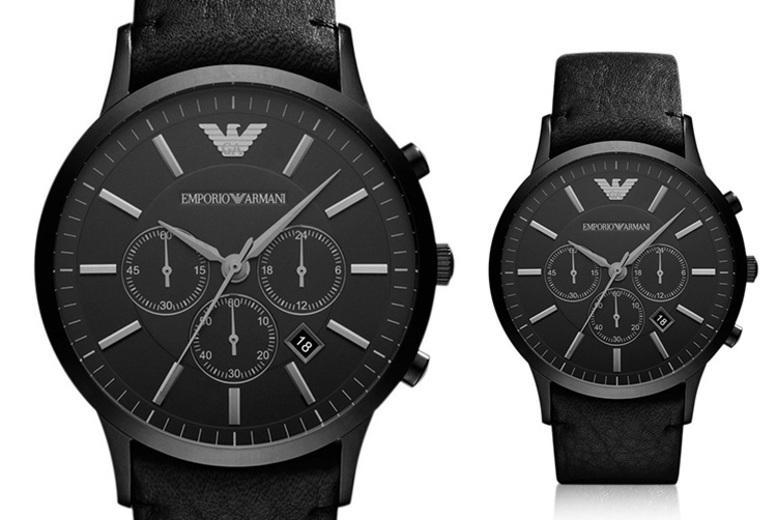 Men's AR2461 Emporio Armani All Black Watch