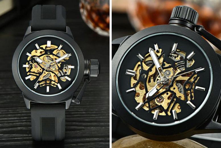 Automatic Skeleton Sport Watch