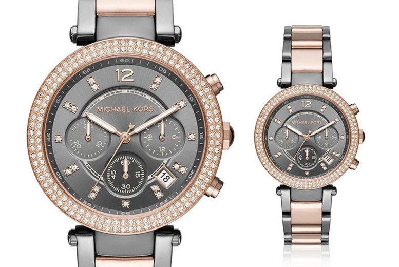 Michael Kors Ladies' MK6440 Two-Tone Parker Chronograph Watch