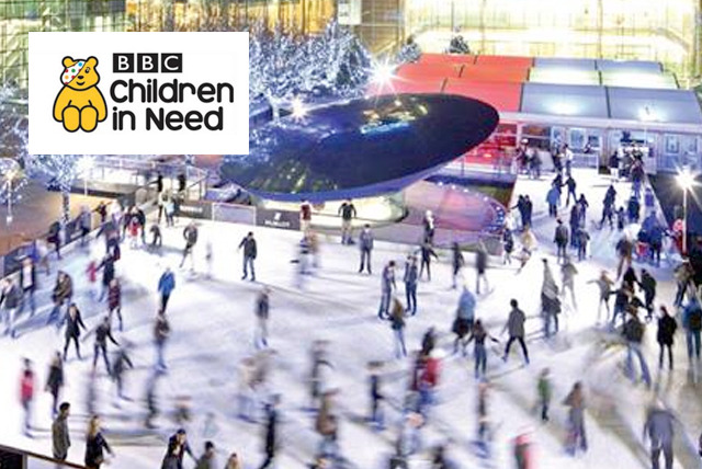 A free ticket to the Guinness World Record attempt for the longest conga on ice at Ice Rink Canary Wharf* - show your support for Children in Need!