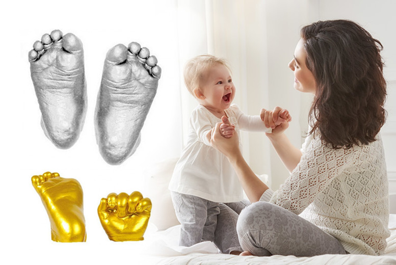 3D Baby Casting Kit – Gold or Silver! for £6.99
