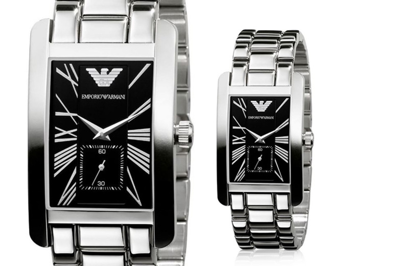 Ladies' Emporio Armani AR0157 Stainless Steel Watch for £79