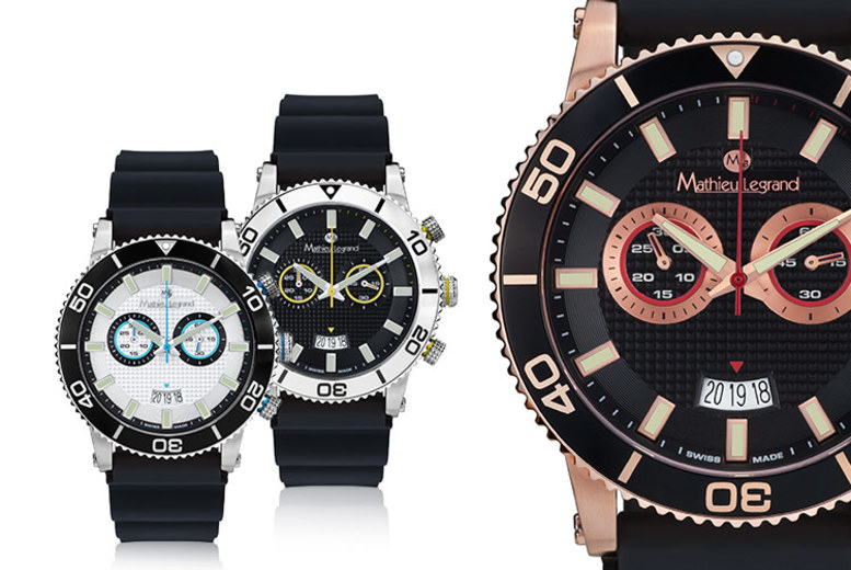 Mathieu Legrand Swiss-Made Mens Watch - 5 Designs!
