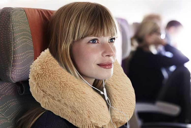 Teddy Bear Travel Neck Pillow – 2 Colours! for £6.99
