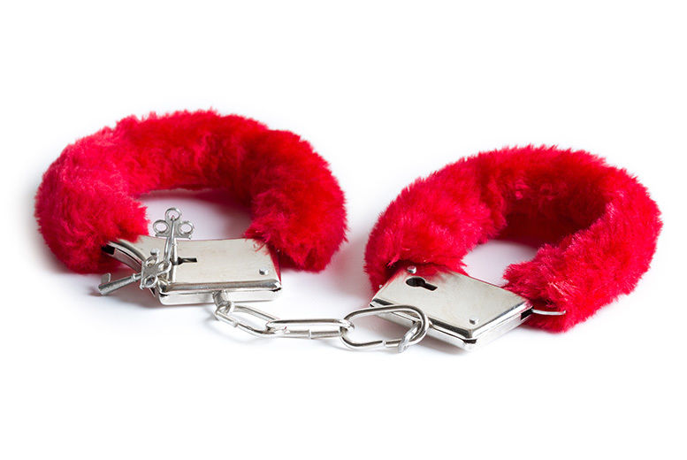 Red Fluffy Handcuffs for £3