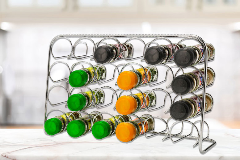 Chrome Freestanding Spice Rack – 3 Sizes! from £8.99