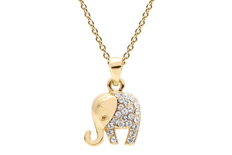 Elephant Pendant & Bracelet Set for £12