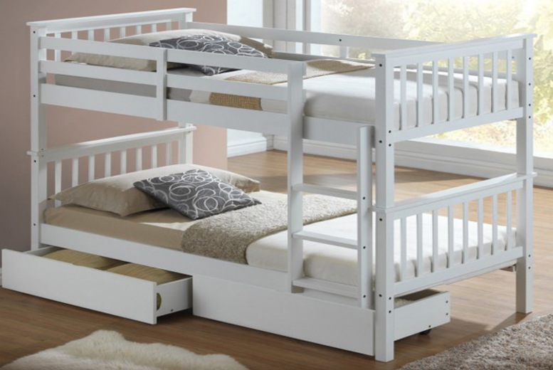 Kids Wooden Bunk Bed – 2 Colours!