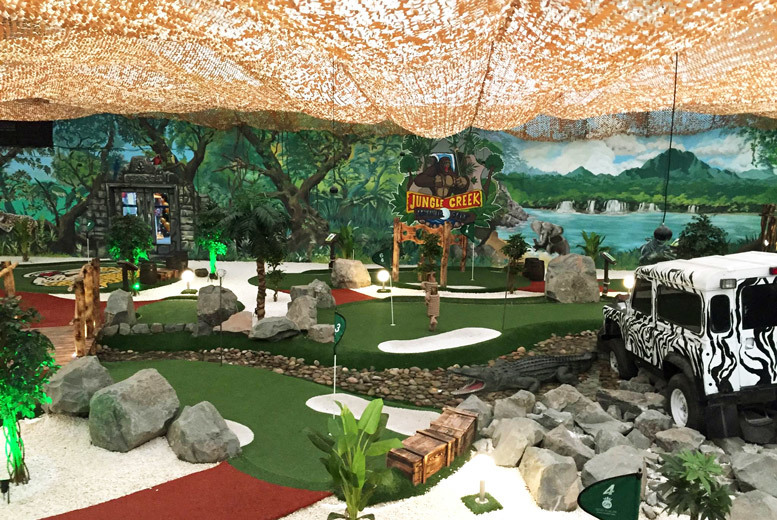 Glasgow: Jungle Creek Adventure Golf, Soft Play & Children's Meal Deal from £9