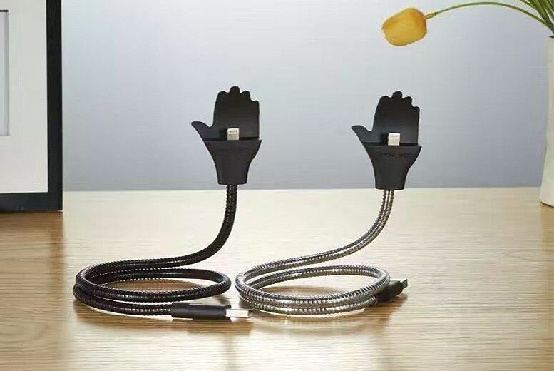 Flexible Phone Holder & USB Charger for iPhone or Android for £6.99