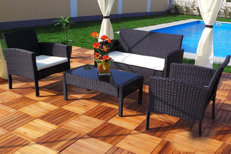 Rio Rattan Garden Set – 2 Sizes & 3 Colours!