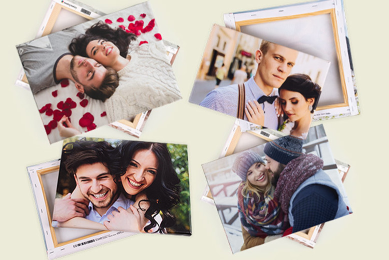 Personalised Photo Canvas – 6 Sizes and Over 50 Templates! from £4.99