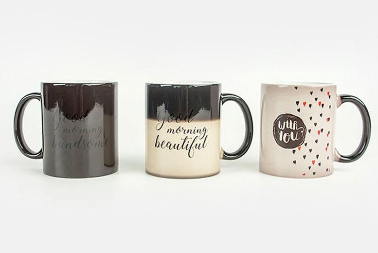 Pair of Personalised Magic Photo Mugs