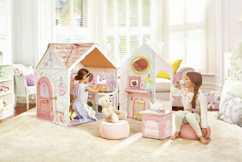 £69.99 for a Dream Town rose petal play house with cooker!