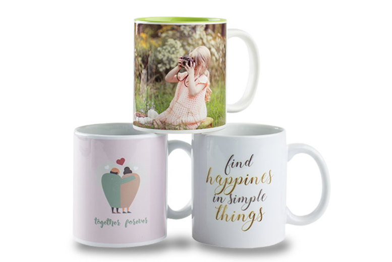 2 x Personalised Photo Mugs – More Than 100 Designs for £8