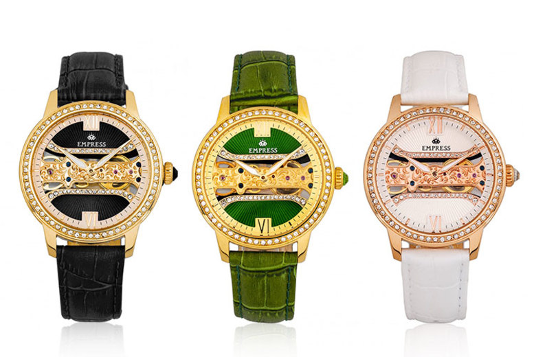 Ladies Automatic Empress Crystal Watch - 6 Colours!