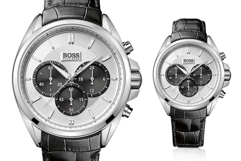 Hugo Boss HB1512880 'Driver' Black Leather Men's Chronograph Watch
