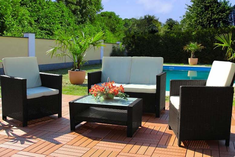 4pc Rattan Miami Garden Set – 3 Colours!