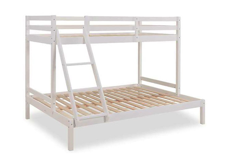 White Triple Bunk Bed with optional Ladder & Mattress! from £179